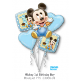 Mickey First Birthday Balloon Bouquet