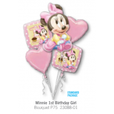 Minnie First Birthday Balloon Bouquet