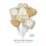 Gold Scroll 50th Anniversary